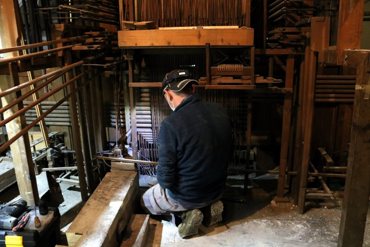 L'orgue de Solsona està a 83.000 euros de completar la restauració