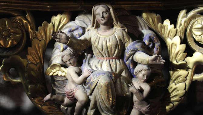 L'orgue de la catedral de Solsona recupera els colors originals