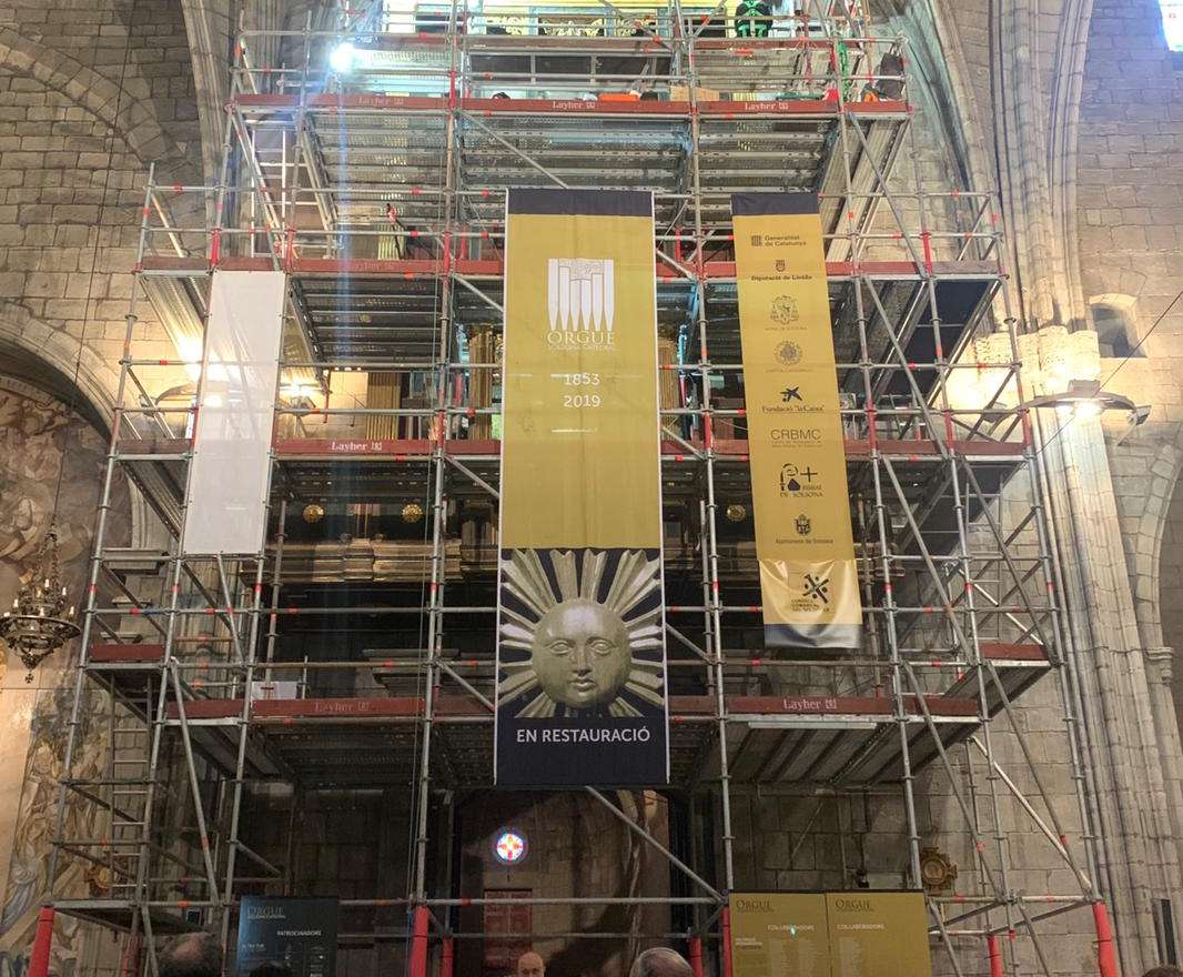 Comença la segona fase de restauració de l'Orgue de la Catedral de Solsona
