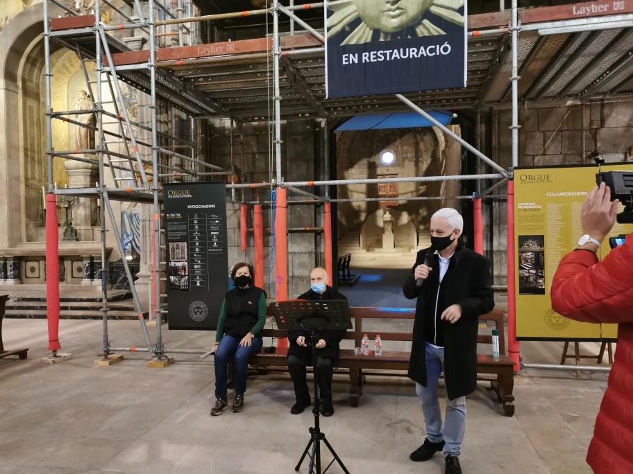 Roda de premsa per presentar l'estat actual de la restauració de l'orgue de la catedral de Solsona