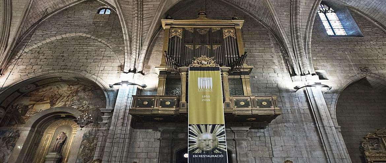 Solsona enllesteix la primera fase de la restauració de l'orgue malgrat la covid