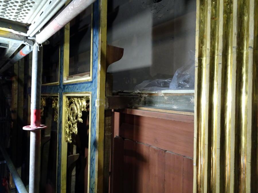 Descobreixen fragments d'un retaule del segle XV o XVI durant la restauració de l'orgue de Solsona