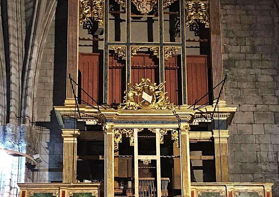 Finalitza la restauració del moble de l'orgue de la catedral de Solsona